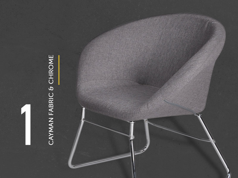 Cayman Fabric & Chrome Visitor Chair
