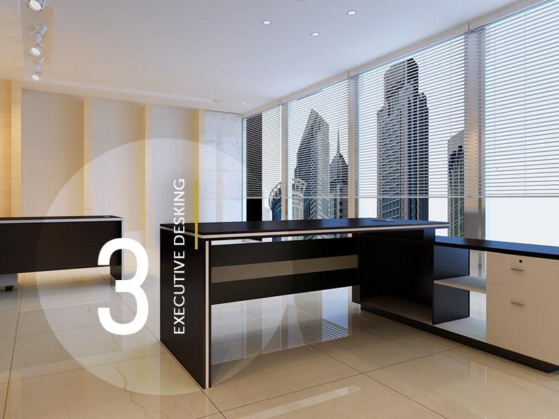 L-shaped  43mm Executive Desk