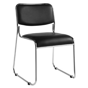 Carrera stacking chair - black