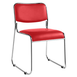 Carrera stacking chair - red