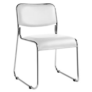 Carrera stacking chair - white