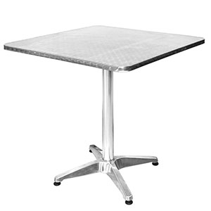 Maxima Square Aluminium Table