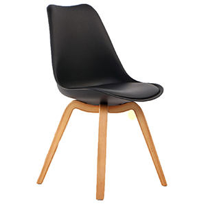Athens padded chair black