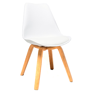 Athens padded chair white