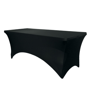 Banqueting table cover - black