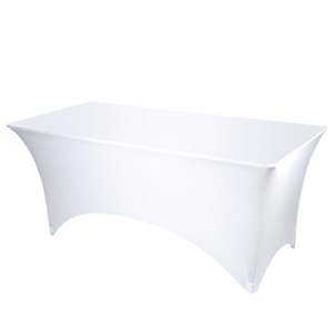 Banqueting table cover - white